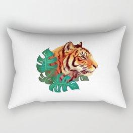 Monstera Tiger Rectangular Pillow