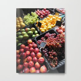 Fruit Stand Metal Print
