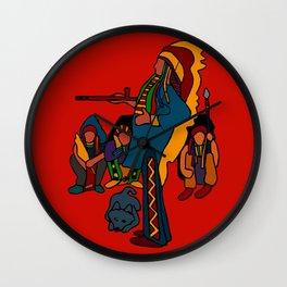 Peace Pipe Wall Clock