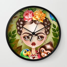 Frida Querida Wall Clock