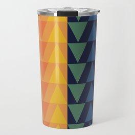 Day and Night Rainbow Triangles Travel Mug