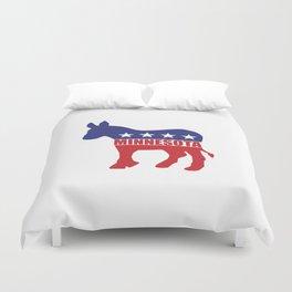 Minnesota Democrat Donkey Duvet Cover