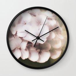 Vintage Hydrangea Wall Clock