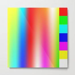 Vapor Spectrum Metal Print