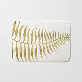 Golden Palm Leaf Bath Mat