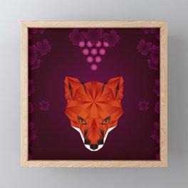 THE FOX & THE GRAPES Framed Mini Art Print