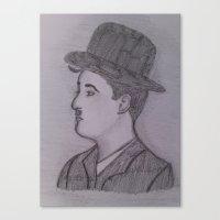 charlie chaplin Canvas Prints featuring Charlie Chaplin by Natasha Lake