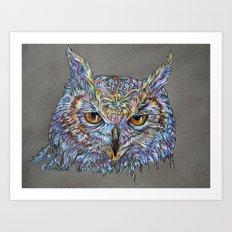 Owl Awakening Art Print