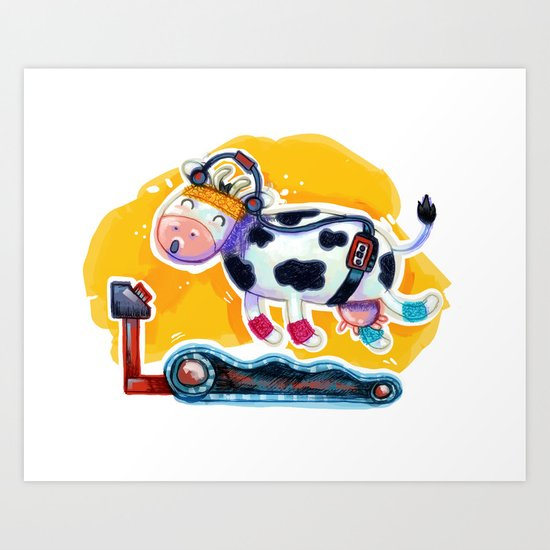 Fat Free Milk Art Print