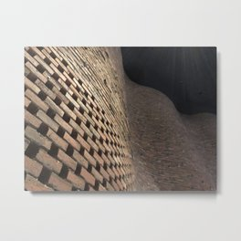 wavey bricks Metal Print