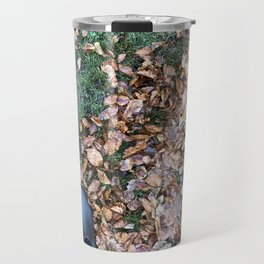 elf feet in leaves Travel Mug