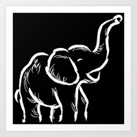 baby elephant Art Prints featuring Baby Elephant by Karen Hischak