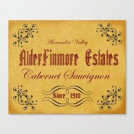 Vintage Wine Label Print (Cabernet Sauvignon) Canvas Print