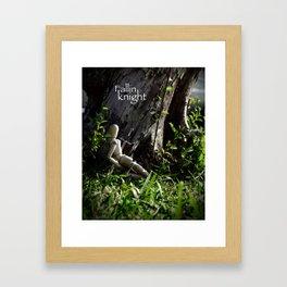 fallin knight  Framed Art Print