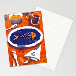Fish Dinner Stationery Cards