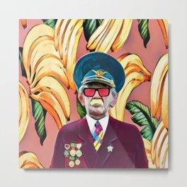 Banana's captain Metal Print