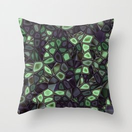 Fractal Gems 04 - Emerald Dreams Throw Pillow