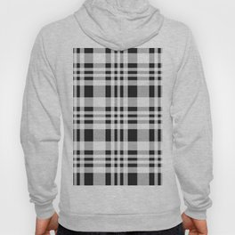 Black Farmhouse Gingham Plaid Hoody