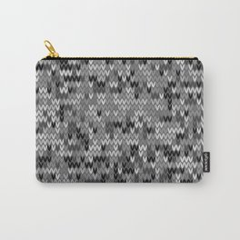 Heathered knit textile 4 Carry-All Pouch