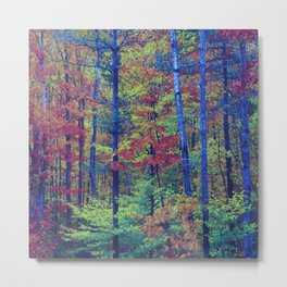 Forest - with exaggerated colors Metal Print