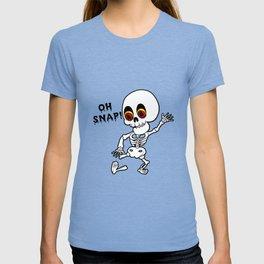 Oh Snap | Broken Leg Skeleton Halloween T-Shirt Hospital T-shirt