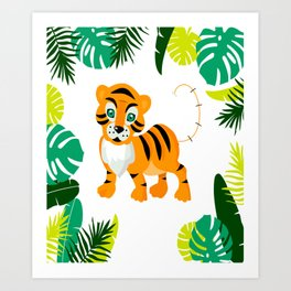 Sweet tiger looking for a new home Art Print