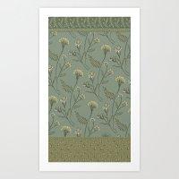 Dazed - Floral Pattern Art Print
