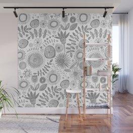heart fleur mono Wall Mural