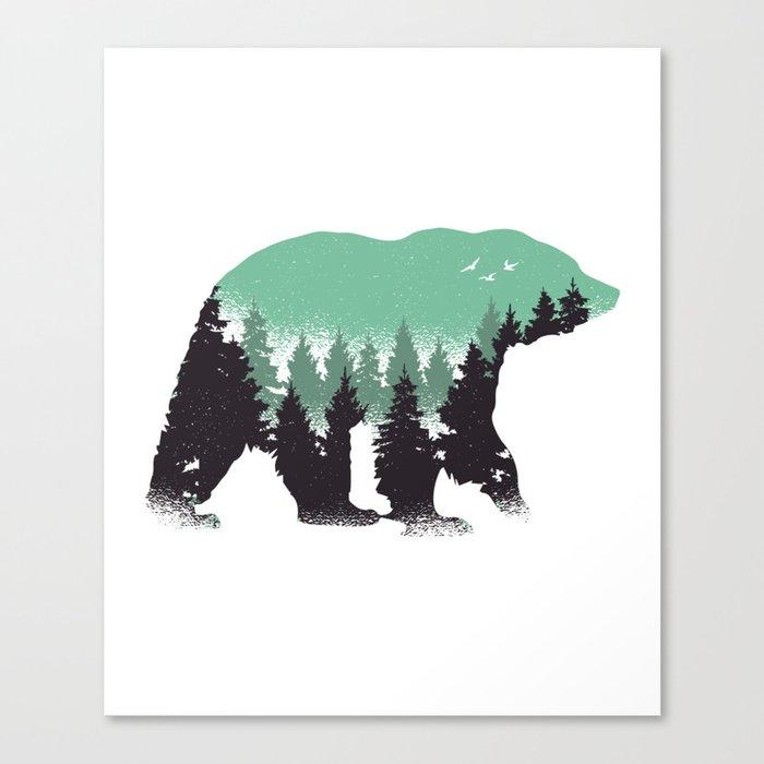 Bear over there Leinwanddruck
