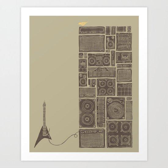 Turn It Up Art Print