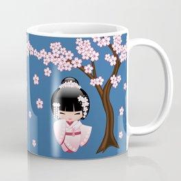Japanese Bride Kokeshi Doll Coffee Mug