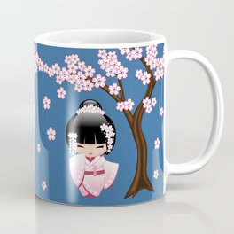 Japanese Bride Kokeshi Doll Coffee Mug