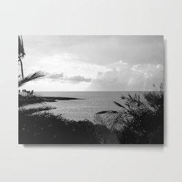 Black & White Beach Art Photogaph Metal Print