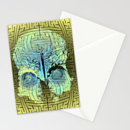 sayagata papua skull Stationery Cards