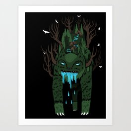 The Walking Forest Art Print