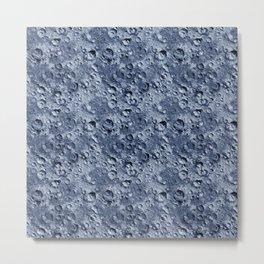 Blue Moonscape Metal Print