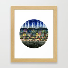Crowded Haunts Framed Art Print