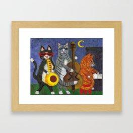Jazz Cats Framed Art Print
