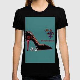A Steampunk Pump, Stiletto, Steampunk Momma T-shirt
