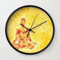 nirvana Wall Clocks featuring NIRVANA by Cristian Armen