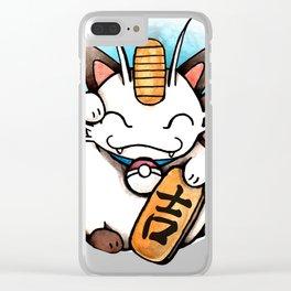 Manenki Meowth Clear iPhone Case