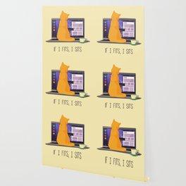 If I Fits, I Sits Wallpaper