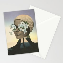 Looking the world through flower glasses. Stationery Cards