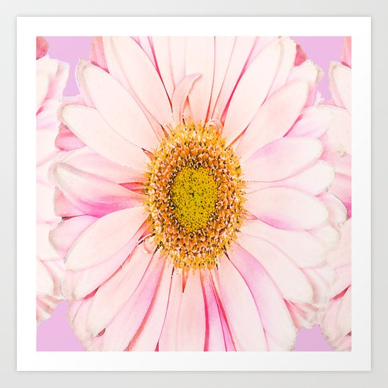 Pink flower with pink background - lovely girlish summer feeling Art Print