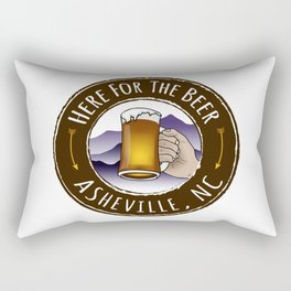 Asheville Beer - AVL 6 Full Color Rectangular Pillow