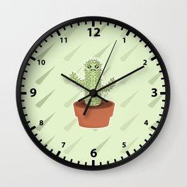 Kawaii Cactus Wall Clock