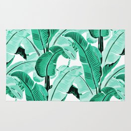 jungle leaf pattern mint Rug