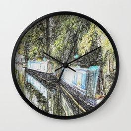 Narrow Boats Little Venice Art Wall Clock