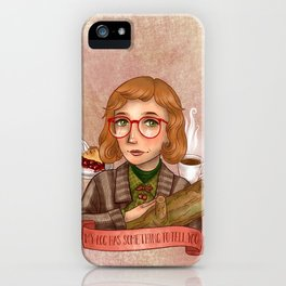 Log Lady - My Log Has Something To Tell You iPhone Case