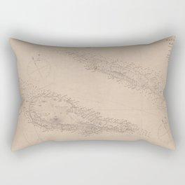 Vintage Faial, Sao Jorge & Pico Island Map (1849)  Rectangular Pillow